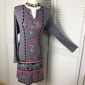 J. Jill boho tunic dress long sleeve large petite